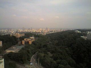 仙台市街を遠くに見て